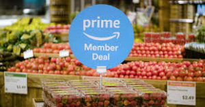 Whole foods with Amazon Prime sign