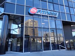 24 Hour fitness gym storefront