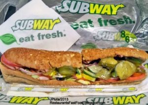 Subway Sandwich with Pickles