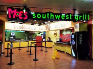 Moe's Southwest Grill Mall Location