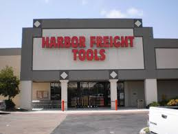 Close up of Harbor Freight Sign on Building