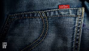 Levi's jean pocket with tag