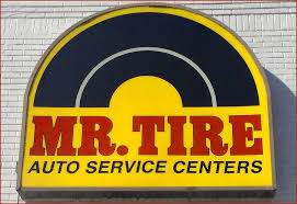 Mr. Tire Logo on Sign
