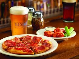 Old Chicago Pizza on a plate