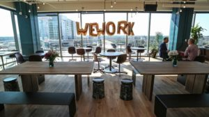 WeWork interior office space