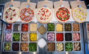 Blaze Pizza Topping selection