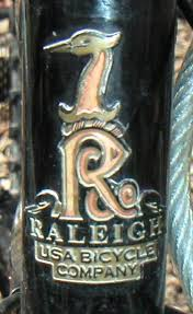 Raleigh Bicycles logo on bike