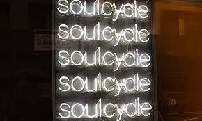 SoulCycle lit sign