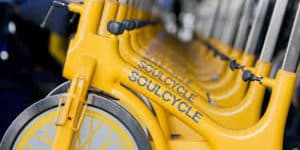 Soulcycle logo on bicycle 2
