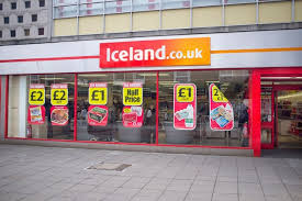 iceland store front sign