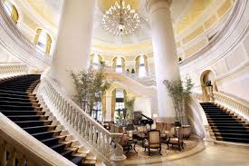 Four Seasons Hotel inside staircase