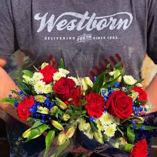 Westborn logo with flowers