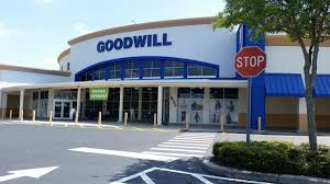 Goodwill store front and parking lot