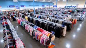 Picture of interior of Goodwill store clothing section